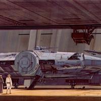 Ralph McQuarrie´s Star War Millennium Falcon Concept design