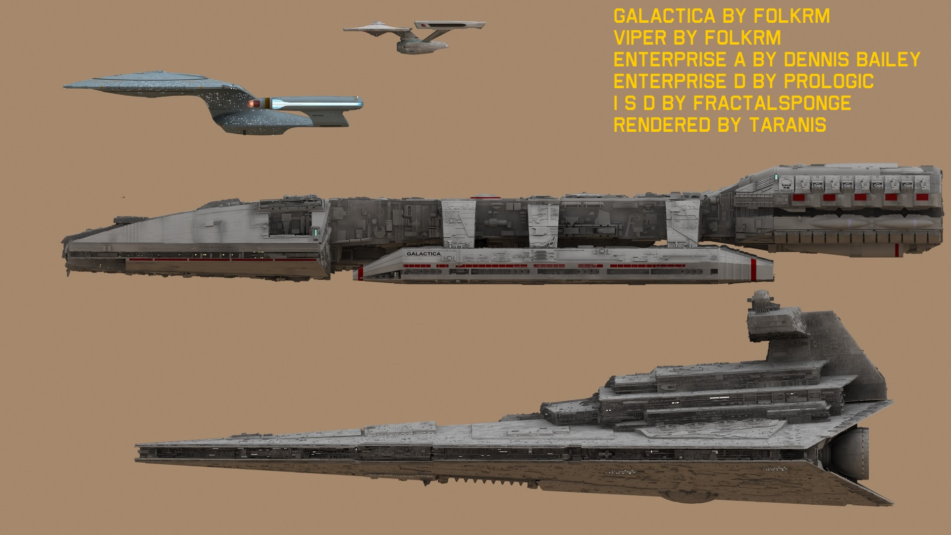 Star Ship Dimensions | GMD3D DESIGNS