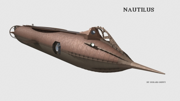 Nautilus with a simple  texture