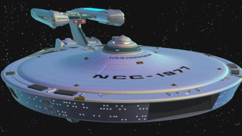 The Stargazer now renamed USS Harkness after been converted from Truespace to Lightwave