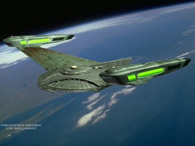 treybor atolm design of a Romulan Warship