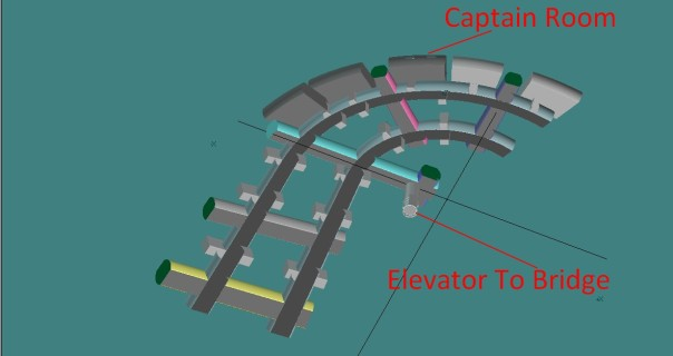 Romulan Corridor layout, design