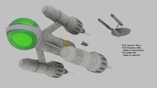 Liberator 780 m  London 55m Enterprise 288m lowpro