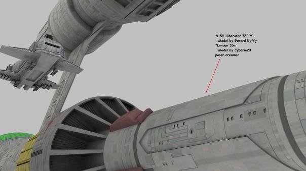 Liberator 780 m  London 55m Enterprise 288m Side close