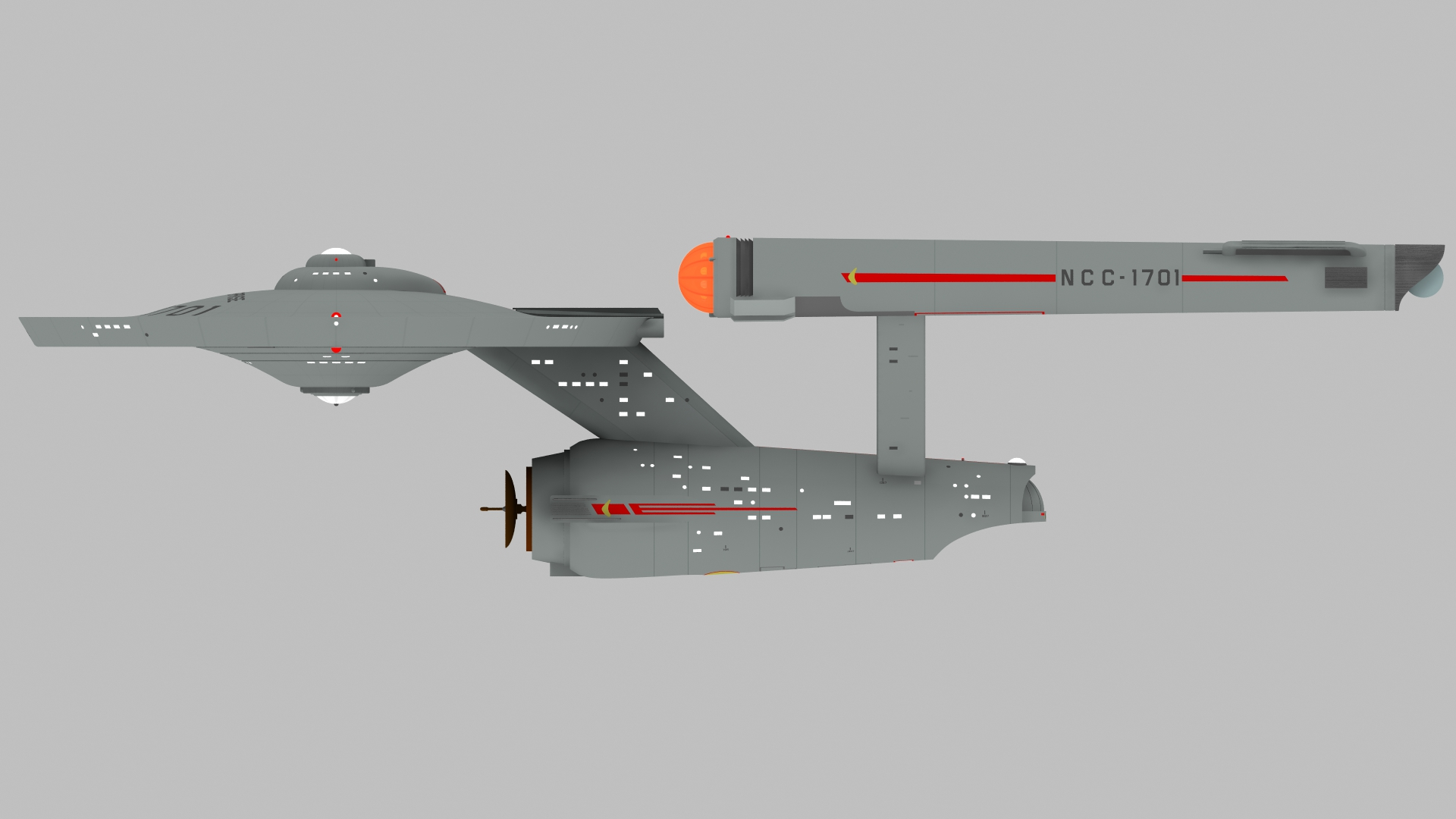 USS ENTERPRISE PORTSIDE