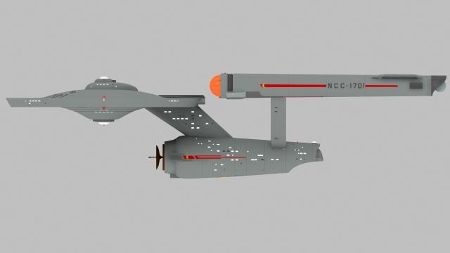 USS ENTERPRISE PORTSIDE