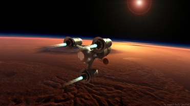Space ship orbit