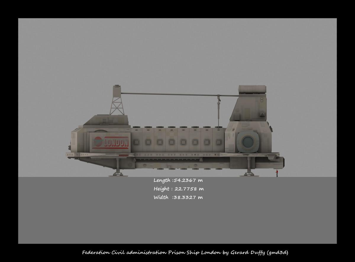 Blake's 7 Liberator & London Prison Ship